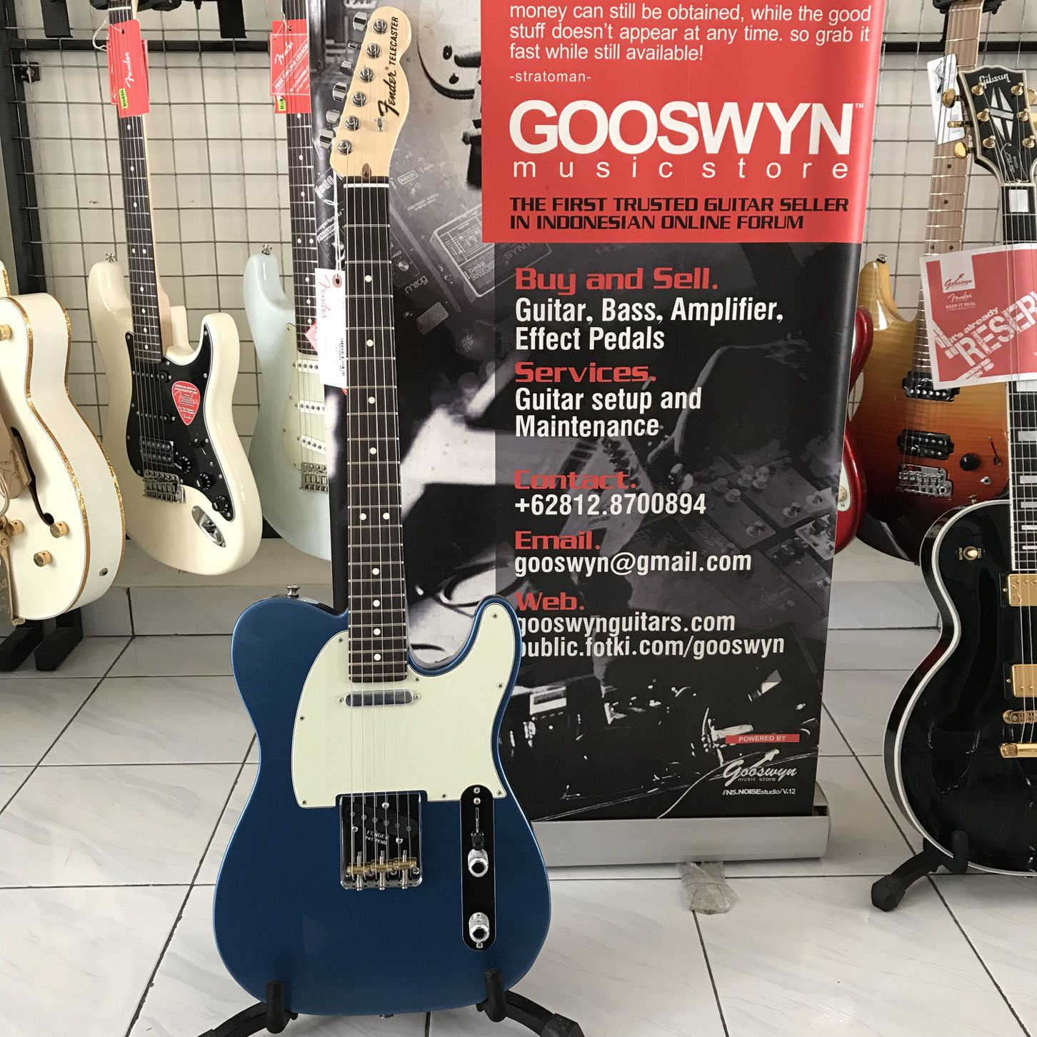 Brand New Fender Usa American Special Telecaster Lake Placid Sale On Texas Pickups Wiring Blue Gooswyn Guitars